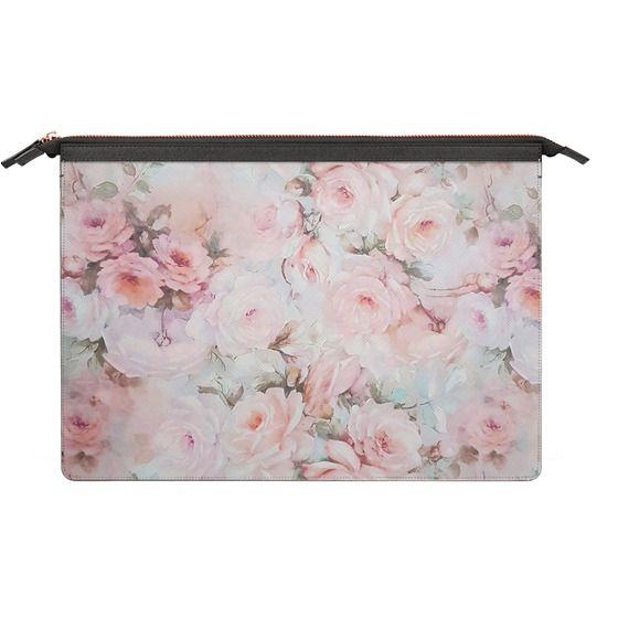 MacBook Pro Retina 13 Sleeves - Vintage romantic blush pink teal bohemian rose floral