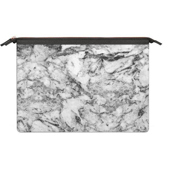 MacBook Pro 13 Sleeves - Elegant gray white modern marble texture patterns