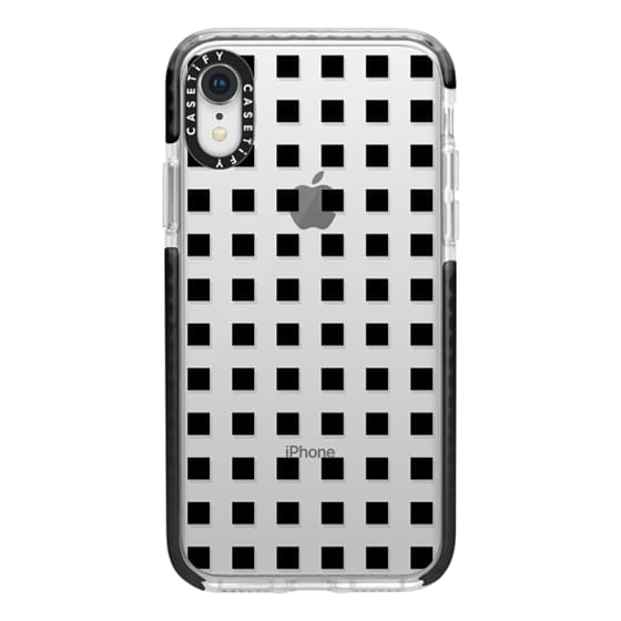 Modern trendy black white block pattern