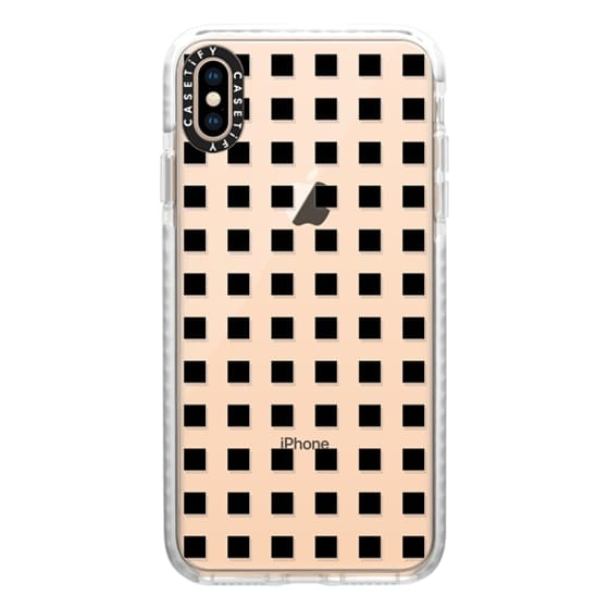 Modern trendy black white block pattern