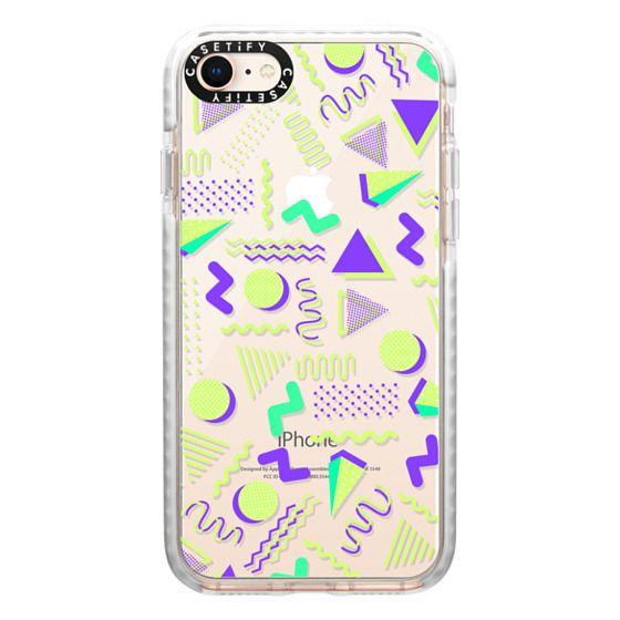iPhone 8 Cases - Lime green purple geometrical retro 80's modern pattern