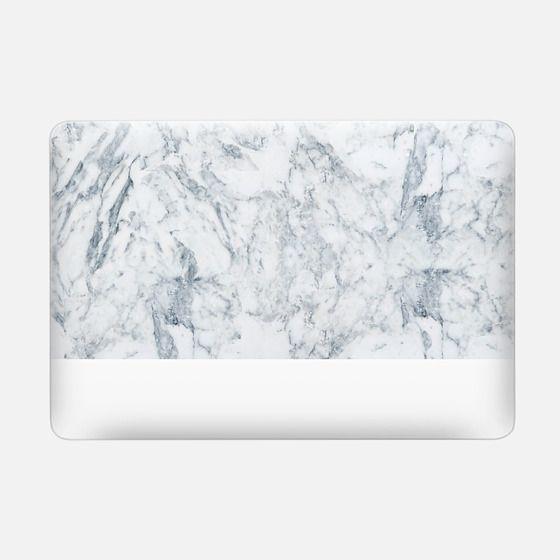 Modern blue white trendy marble texture pattern -