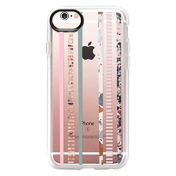 iPhone 6s Cases - Modern elegant pink green color block marble stripes