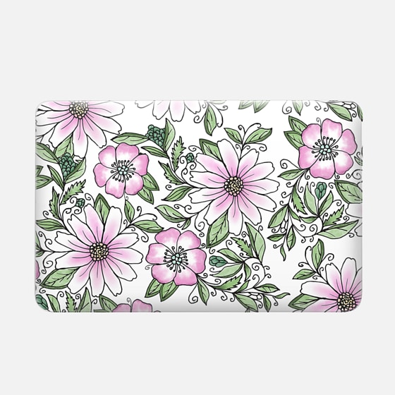 Macbook Air 11 Hülle - Blush pink green watercolor hand painted floral