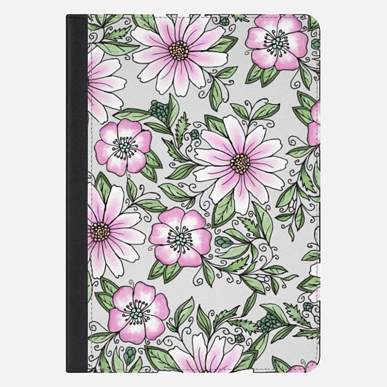 "iPad Pro 10.5"" Case - Blush pink green watercolor hand painted floral"