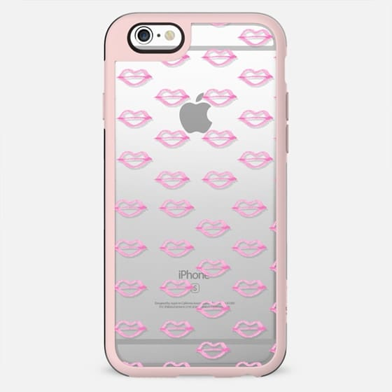 Trendy hand painted watercolor pink  cool lips - New Standard Case