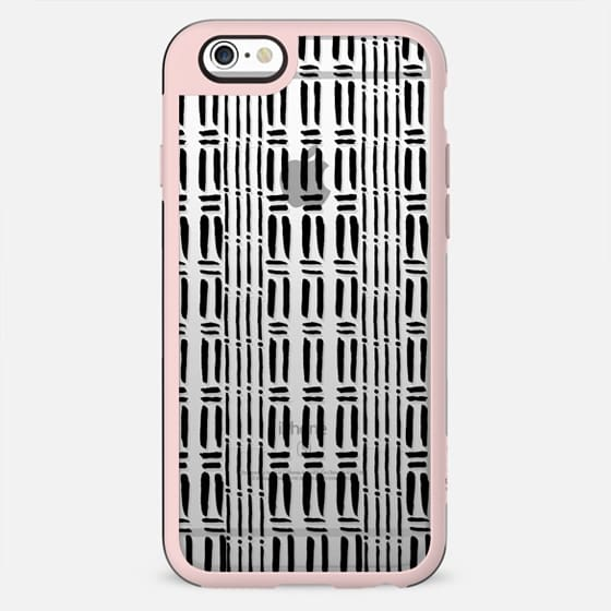 Black white hand painted watercolor brushstrokes pattern - New Standard Case