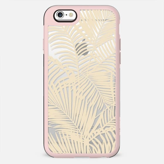 Modern tropical elegant ivory palm tree pattern - New Standard Case