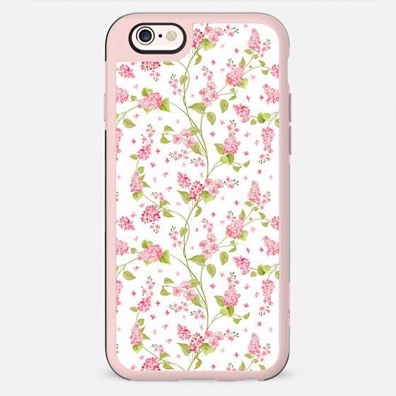 Blush pink green elegant cute floral vector pattern