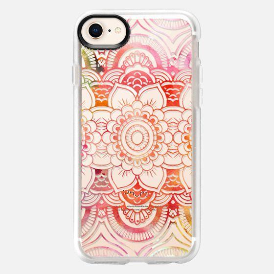 Watercolor floral pattern mandala handdrawn custom - Snap Case
