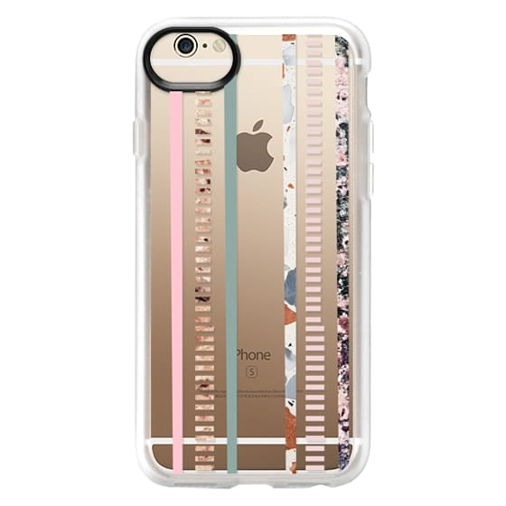 iPhone 6 Cases - Modern elegant pink green color block marble stripes