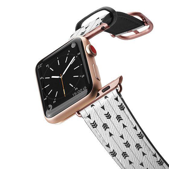 Apple Watch 38mm Bands - Modern simple black white bohemian arrows