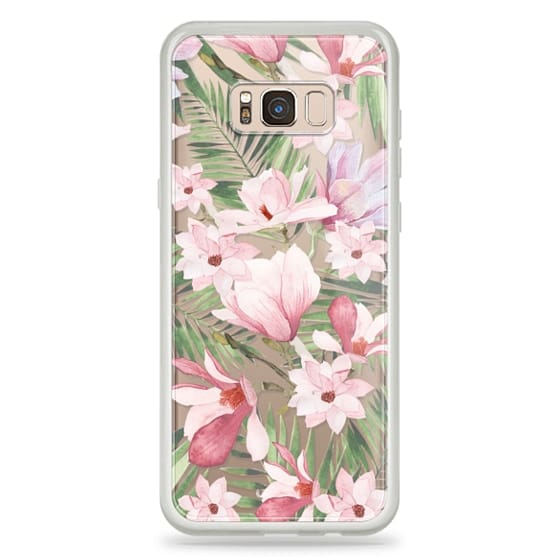 Galaxy S8 Plus 保護殼 - Blush pink lavender green watercolor tropical floral