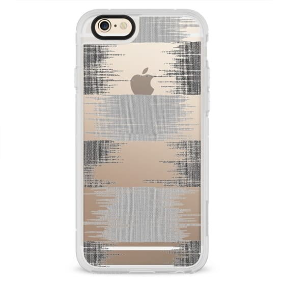 iPhone 6s Cases - Modern black gray white ikat pattern