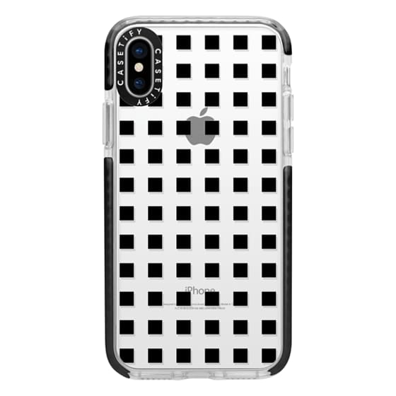 iPhone X Cases - Modern trendy black white block pattern