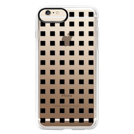 iPhone 6 Plus Cases - Modern trendy black white block pattern