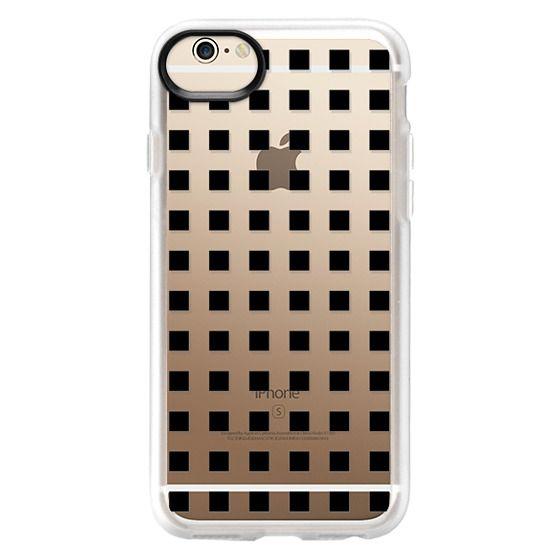 iPhone 6 Cases - Modern trendy black white block pattern