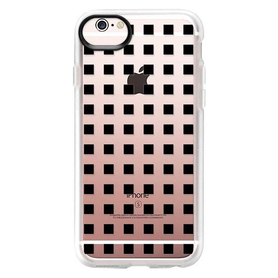 iPhone 6s Cases - Modern trendy black white block pattern