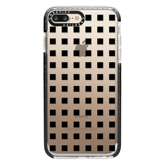 iPhone 7 Plus Cases - Modern trendy black white block pattern