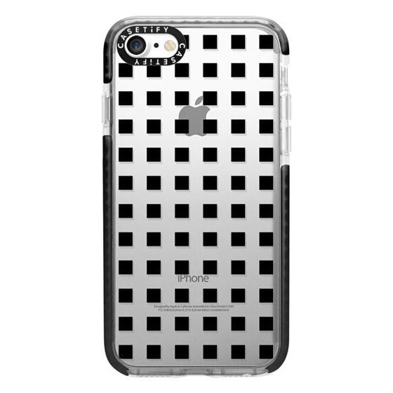 iPhone 7 Cases - Modern trendy black white block pattern