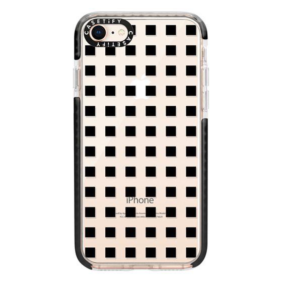 iPhone 8 Cases - Modern trendy black white block pattern
