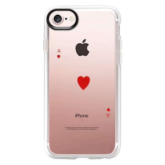 iPhone 7 Cases - Vintage red Ace of Hearts