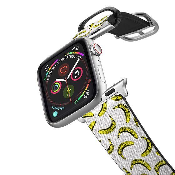 Apple Watch 38mm Bands - Modern bold bright yellow banana pattern