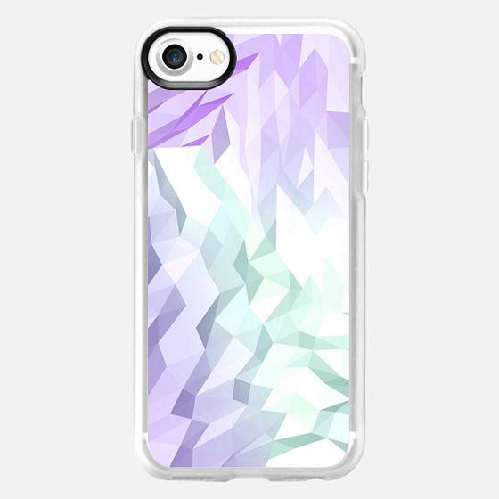 Purple green white abstract geometric pattern -