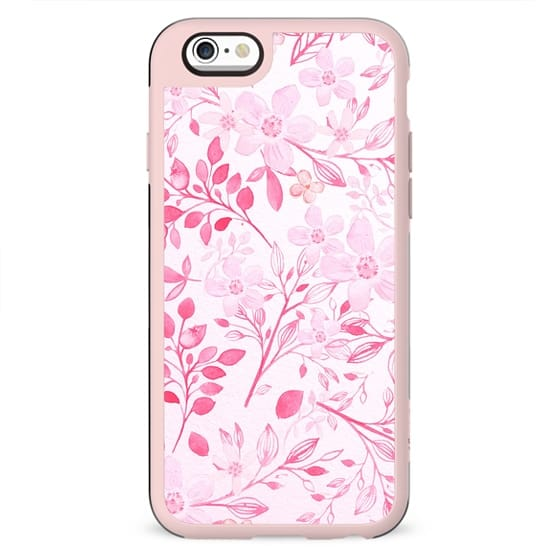 Hand painted hot pink watercolor modern floral