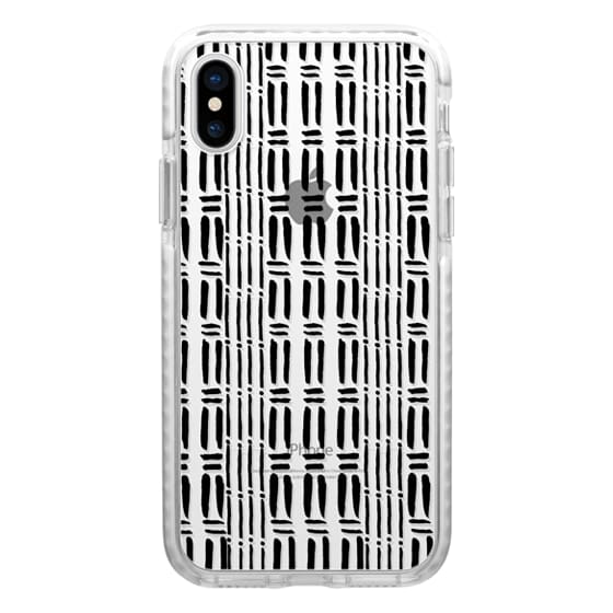 iPhone 6s Cases - Black white hand painted watercolor brushstrokes pattern