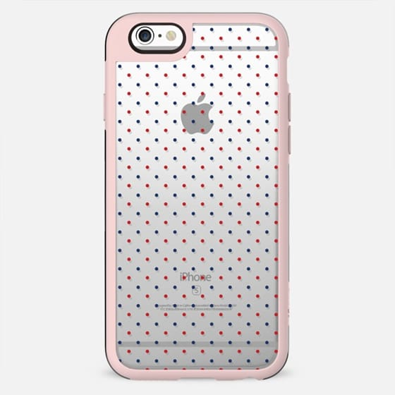 Nautical navy blue red modern polka dots pattern - New Standard Case