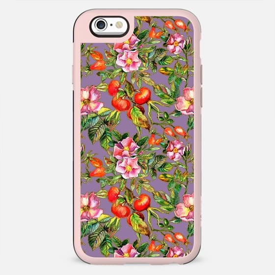 Artistic hand painted pink red watercolor botanical roses pattern - New Standard Case