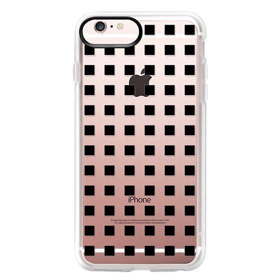 iPhone 6s Plus Cases - Modern trendy black white block pattern