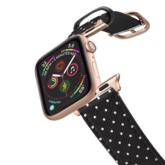 Apple Watch 38mm Bands - Simple black white girly hipster modern polka dots