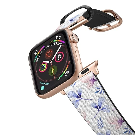 Apple Watch 42mm Bands - Chic pastel coral purple blue watercolor floral