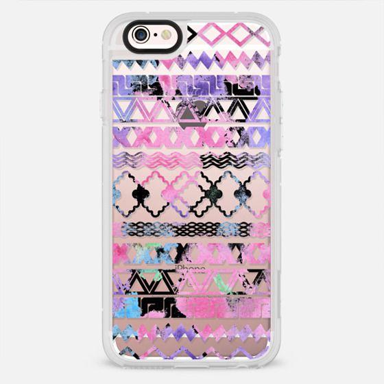 Modern pastel pink watercolor aztec chevron pattern