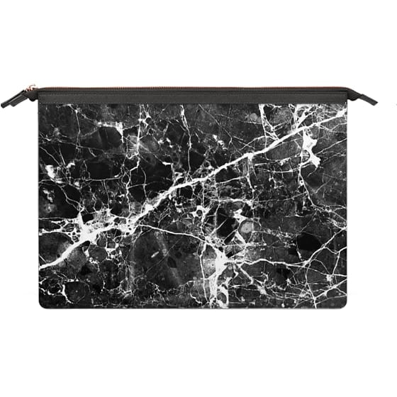 MacBook Air 13 Sleeves - Black white modern chic marble texture patterns