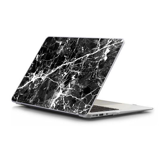 MacBook Air 11 Sleeves - Black white modern chic marble texture patterns