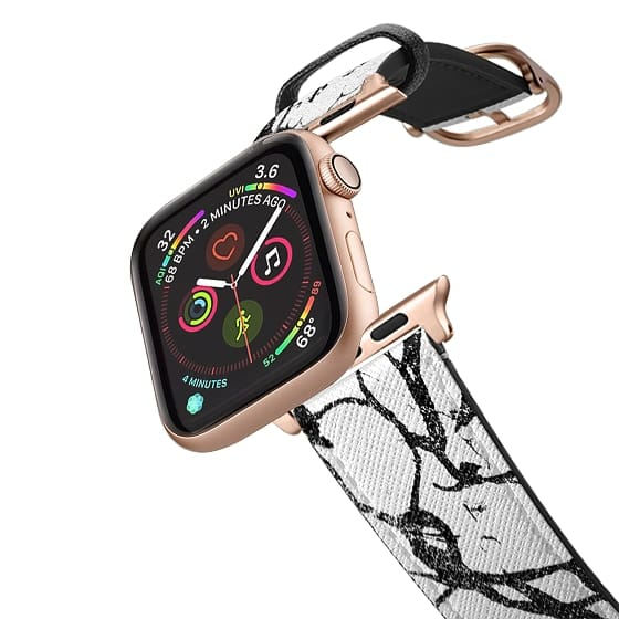 Apple Watch 42mm Bands - Trendy chic black and white marble patterns