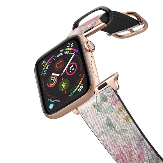Apple Watch 38mm Bands - Vintage boho chic pastel pink watercolor roses floral