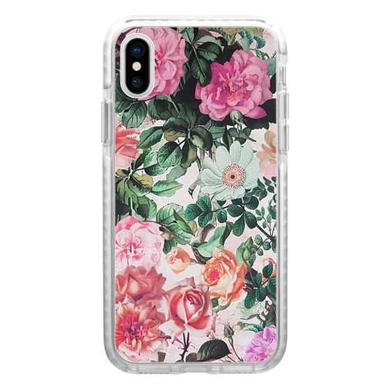 iPhone 7 Plus Cases - Vintage green pink lavender country floral