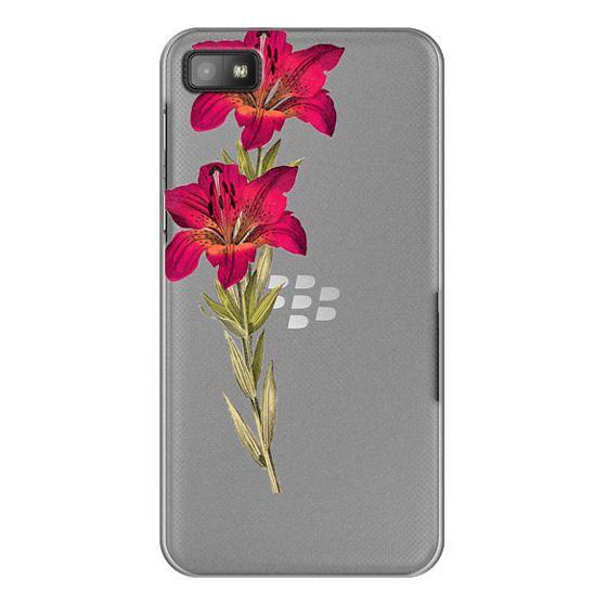 Blackberry Z10 Cases - Vintage magenta orange green colorful lily floral