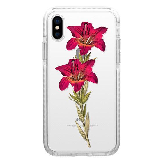 iPhone 4 Cases - Vintage magenta orange green colorful lily floral