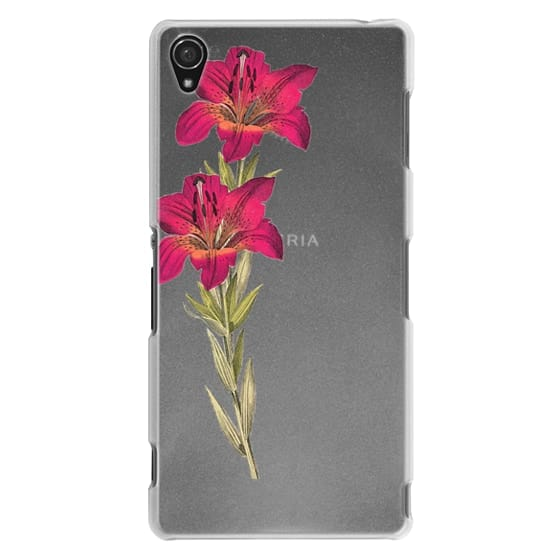 Sony Z3 Cases - Vintage magenta orange green colorful lily floral