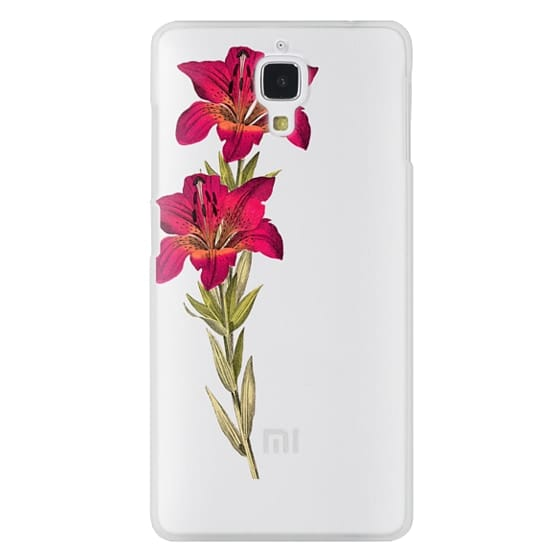Xiaomi 4 Cases - Vintage magenta orange green colorful lily floral