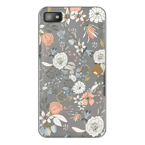 Abstract modern coral white pastel rustic floral