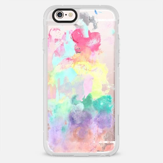 Modern trendy pink teal bright watercolor pattern - New Standard Case