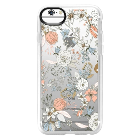 iPhone 6s Cases - Abstract modern coral white pastel rustic floral