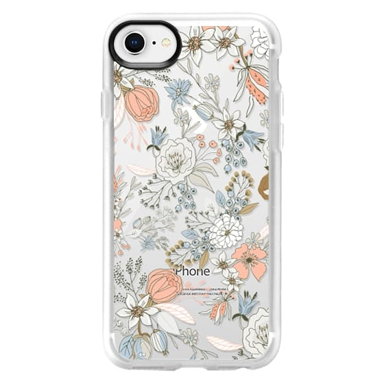 iPhone 8 Cases - Abstract modern coral white pastel rustic floral