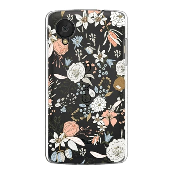 Nexus 5 Cases - Abstract modern coral white pastel rustic floral